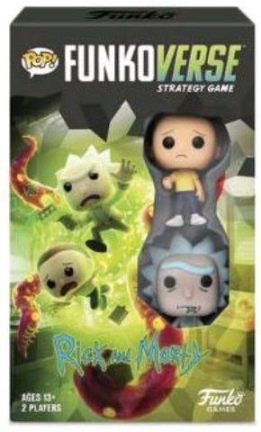 *Pre-order* Funkoverse - Rick & Morty 2-pack Expandalone Strategy Pop! Vinyl Board Game (ETA October)