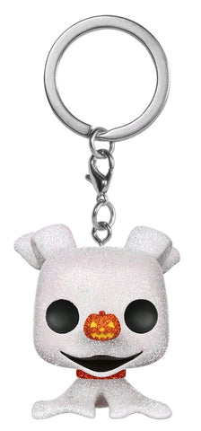 *Pre-order* The Nightmare Before Christmas - Zero Diamond Glitter Pocket Pop! Vinyl Keychain (ETA Sept)