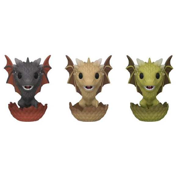 Game of Thrones - Dragons in Eggs Pop! 3pk Vinyl EC20