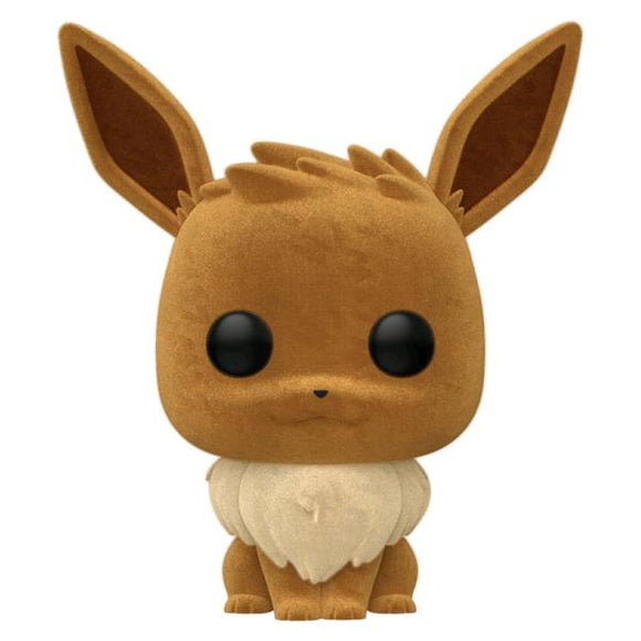 Pokemon - Eevee Flocked Pop! Vinyl WC20