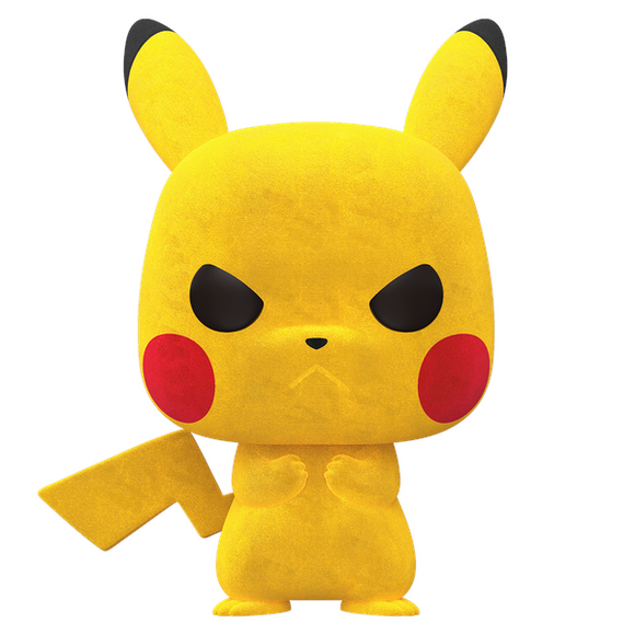 Pokemon - Pikachu Grumpy Flocked Pop! Vinyl NY20