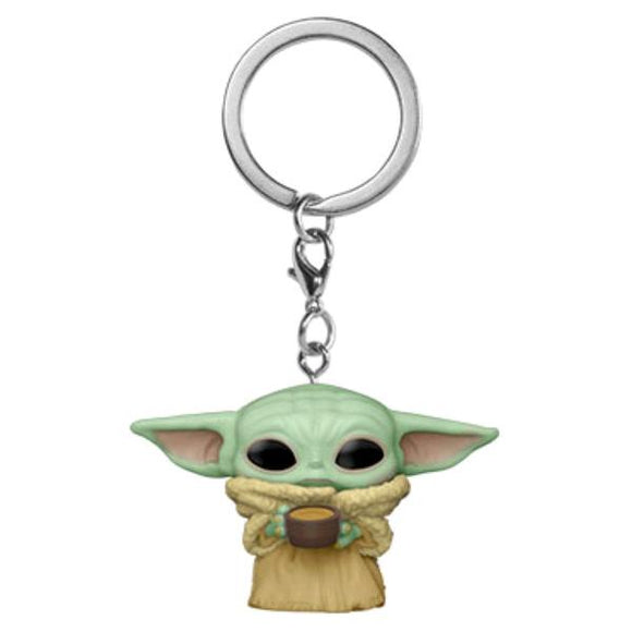 *Pre-order* Star Wars: The Mandalorian - The Child with Cup Pocket Pop! Vinyl Keychain (ETA May)