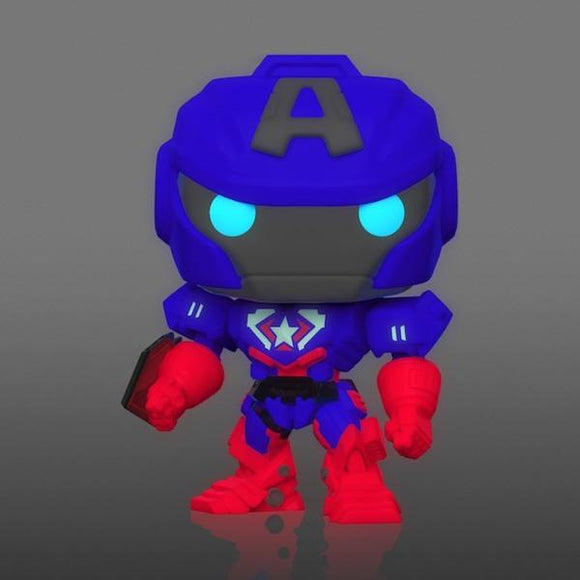 *Pre-order* Captain America - Marvel Mech Glow US Exclusive Pop! Vinyl (ETA April)
