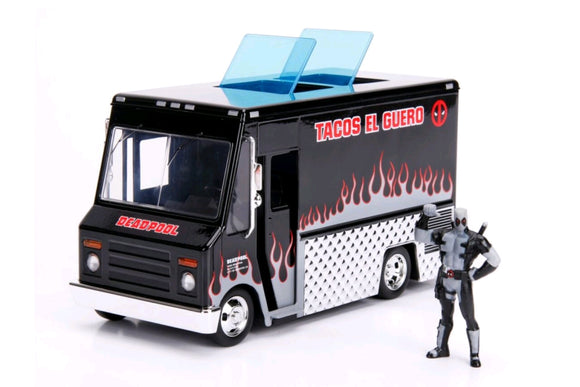 Deadpool - Food Truck (Black) 1:24 Hollywood Ride