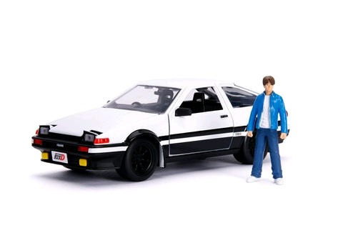 *Pre-order* Initial D - 1986 Toyota Corolla Trueno AE86 1:24 Hollywood Ride