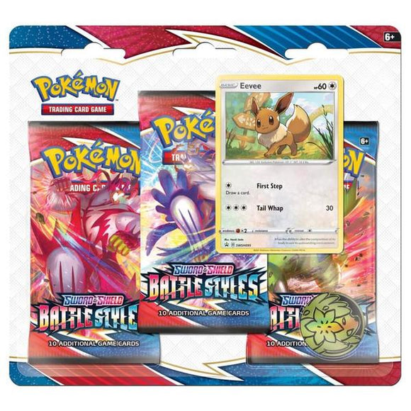 *Pre-order* Pokemon TCG Sword & Shield Battle Styles Three Booster Blister (ETA 19th March)