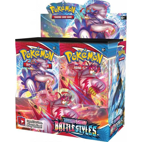 *Pre-order* Pokemon TCG Sword & Shield Battle Styles Sealed Booster Box (ETA 19th March)