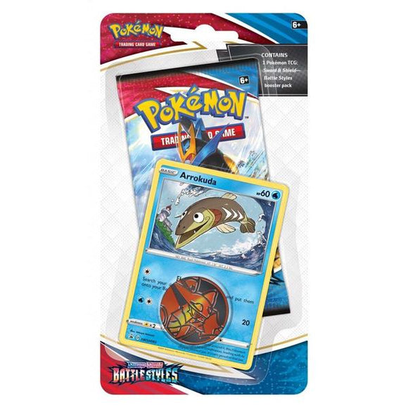 *Pre-order* Pokemon TCG Sword & Shield Battle Styles Checklane Blister Pack (ETA 19th March)