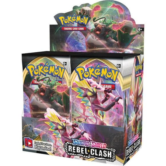 *Pre-order* Pokemon TCG Sword & Shield Rebel Clash Sealed Booster Box (1st May)