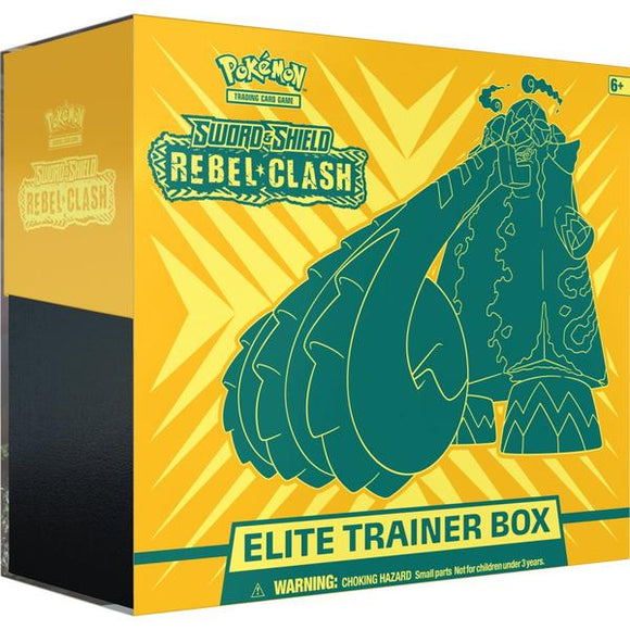 *Pre-order* Pokemon TCG Sword & Shield Rebel Clash Elite Trainer Box (1st May)