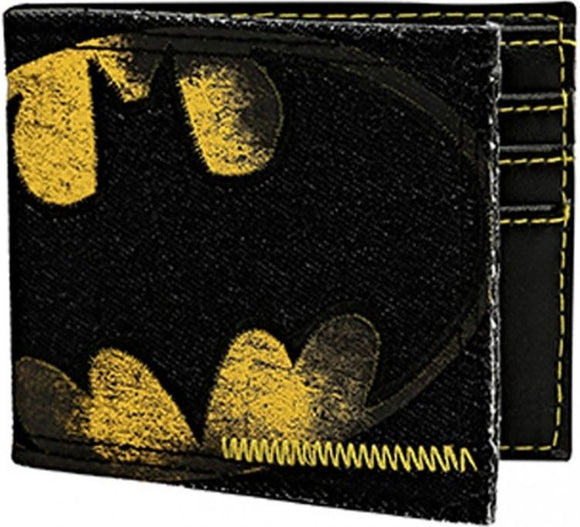 Batman Logo Denim Bi-fold Wallet