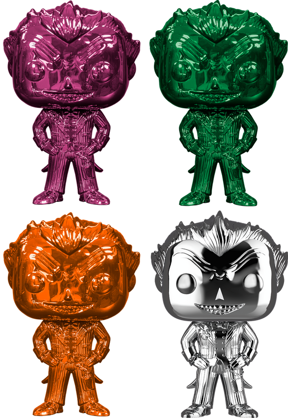 Batman Arkham Asylum - The Joker Chrome Pop! Vinyl Bundle