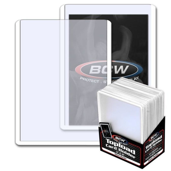 BCW Topload Card Holder Border White (3