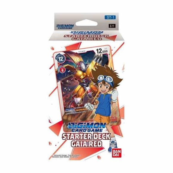 Digimon Card Game Series 01 Starter Deck 01 Gaia Red