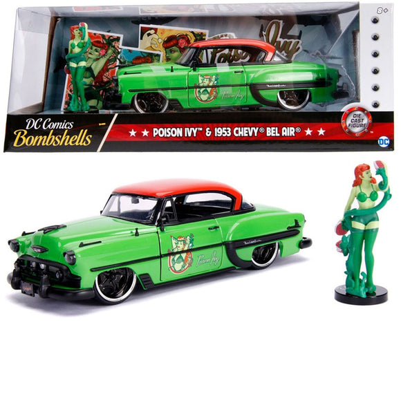 DC Bombshells - Poison Ivy 1953 Chevy Bel Air 1:24 Scale Hollywood Rides Diecast Vehicle