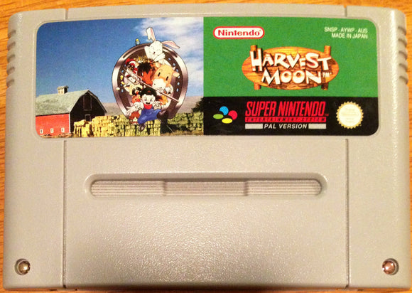 Harvest Moon SNES Cartridge Only