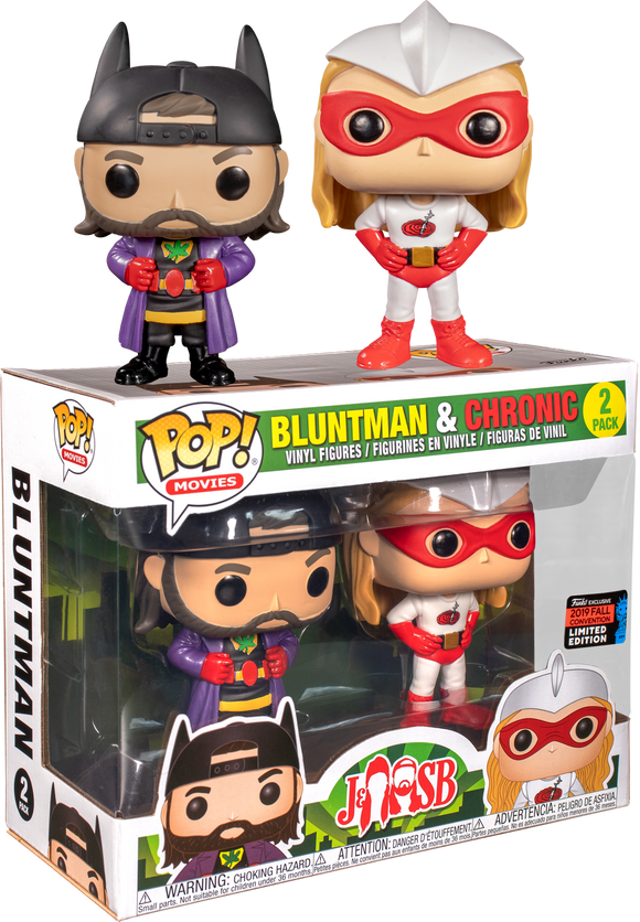 Jay & Silent Bob - Chronic & Bluntman 2pk NYCC 2019 Exclusive Pop! Vinyl