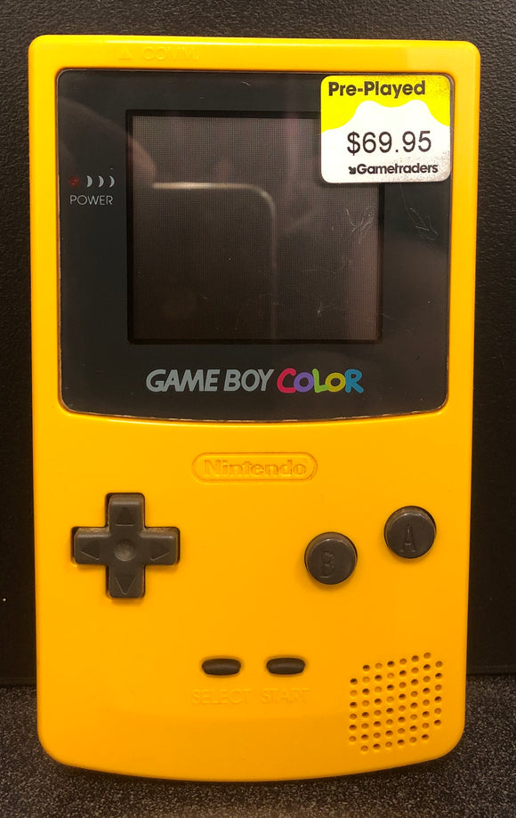 Gameboy Color Console Yellow