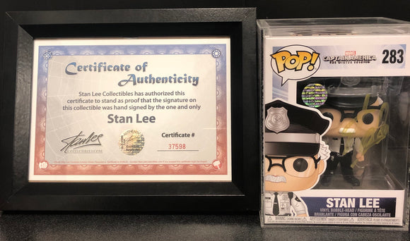 Stan Lee - Cameo Captain America 2: The Winter Soldier US Exclusive Pop! Vinyl Hand Signed
