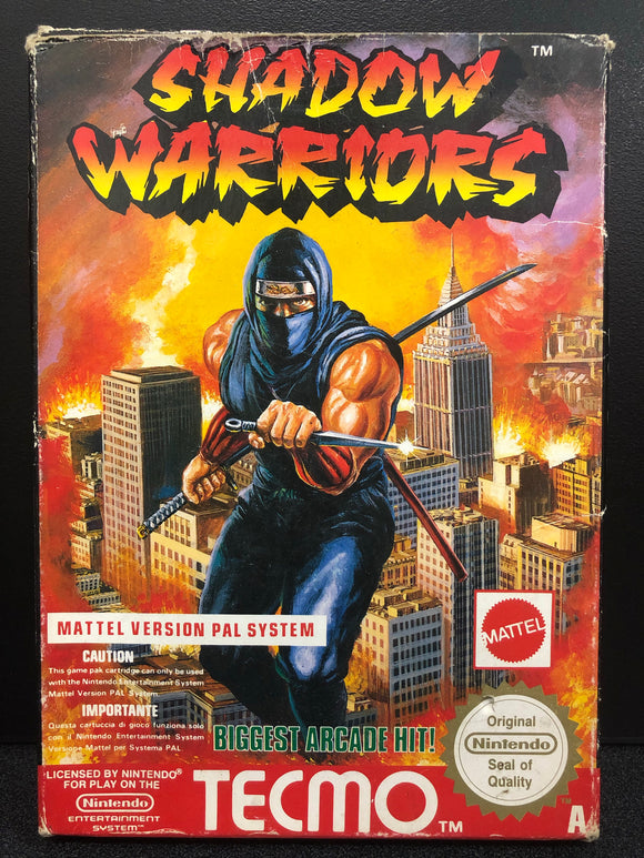 Shadow Warriors NES Boxed