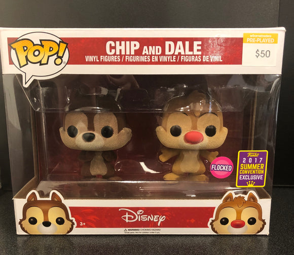 Chip and Dale Flocked San Diego 2017 Comic Con Pop! Vinyl