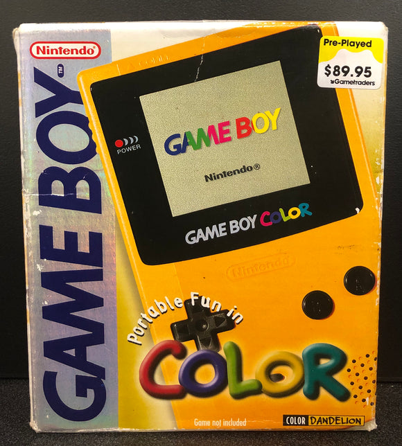 Gameboy Color Console Yellow (Boxed)
