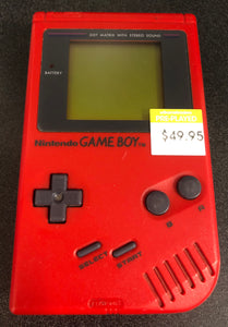 Gameboy Console Red