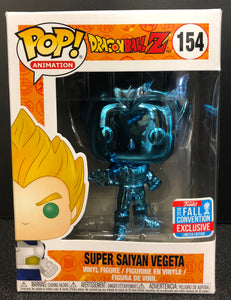 Dragon Ball Z Blue Chrome Super Saiyan Vegeta New York 2018 Comic Con Pop! Vinyl
