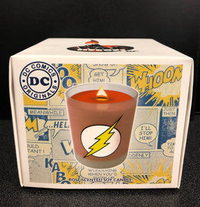 The Flash DC Comics Rose Scented Soy Candle