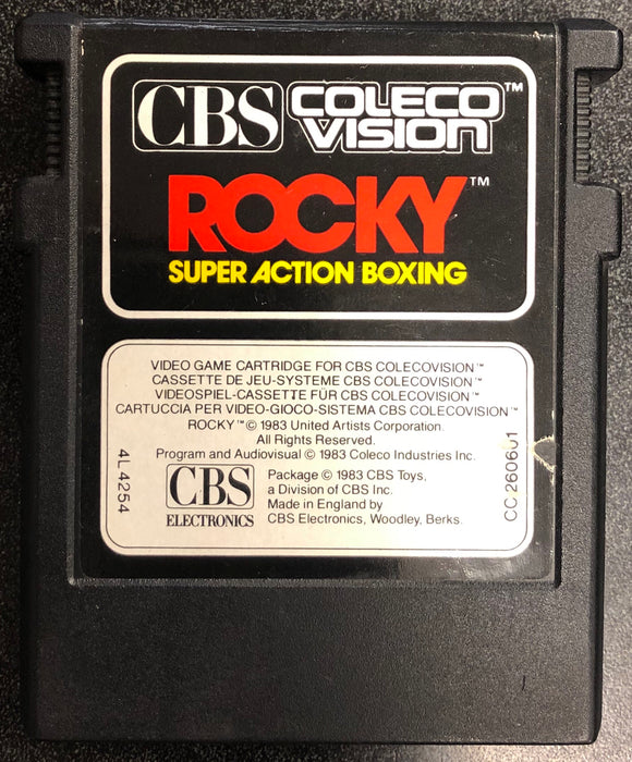 Rocky Super Action Boxing Colecovision