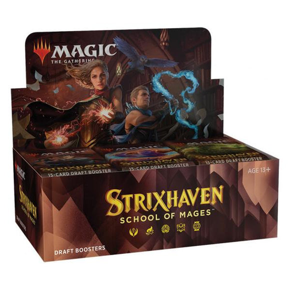 *Pre-order* Magic the Gathering - Strixhaven School of Mages Draft Boosters Sealed Box (ETA 23rd April)