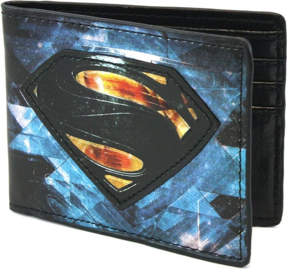Man Of Steel Chromium Print Bi-fold Wallet