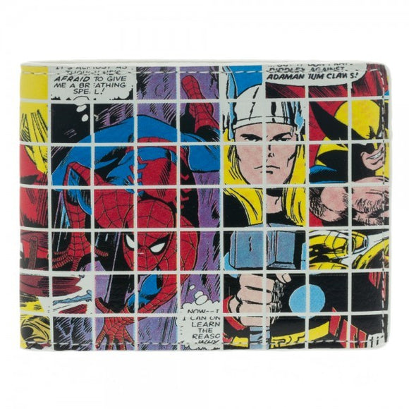 Marvel Grid Collage Bi-Fold Wallet