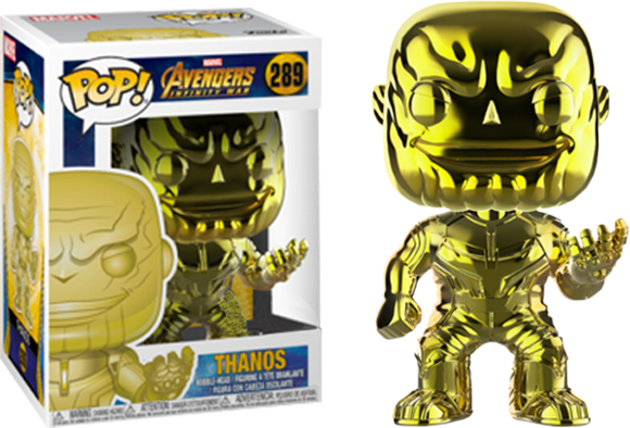 Avengers 3: Infinity War - Thanos Yellow Chrome Pop! Vinyl