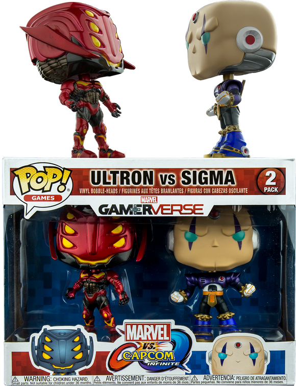 Marvel vs Capcom: Infinite - Ultron vs Sigma US Exclusive Pop! Vinyl 2-pack