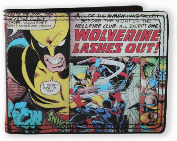Marvel Wolverine Comic Bi-fold Wallet