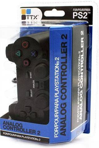 PS2 Controller Black Wired TTX