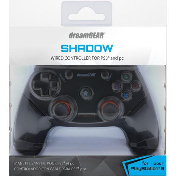 PS3/PC dreamGEAR Shadow Wired Controller