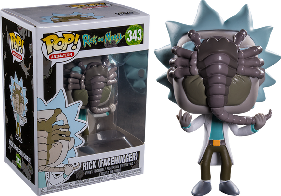 Rick and Morty - Rick with Facehugger US Exclusive Pop! Vinyl