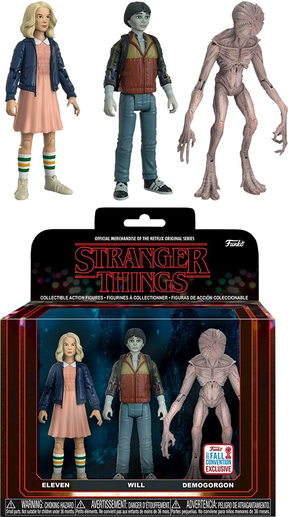 Stranger Things - Eleven, Will & Demogorgon NYCC 2017 US Exclusive Action Figure 3-pack