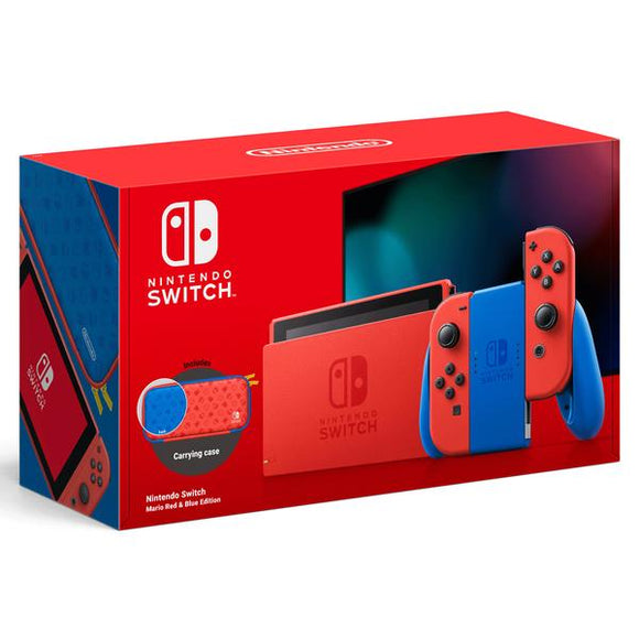 Nintendo Switch Console: Mario Red & Blue Edition
