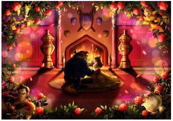 *Pre-order* Tenyo Beauty and the Beast Beginning of Love 500 Pc Puzzle (ETA November)