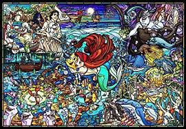 *Pre-order* Tenyo Little mermaid Story Stained Glass 1000 pc puzzle (ETA November)