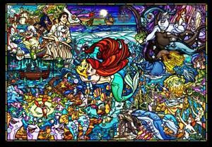 *Pre-order* Tenyo Little Mermaid Story Stained Glass 500 pc puzzle (ETA November)