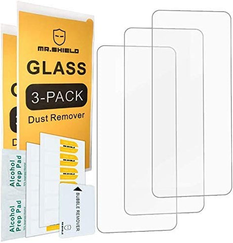 [3-Pack]-Mr.Shield for Samsung Galaxy A21 [Upgrade Maximum Cover Screen Version] [Tempered Glass] [Japan Glass with 9H Hardness] Screen Protector with Lifetime Replacement
