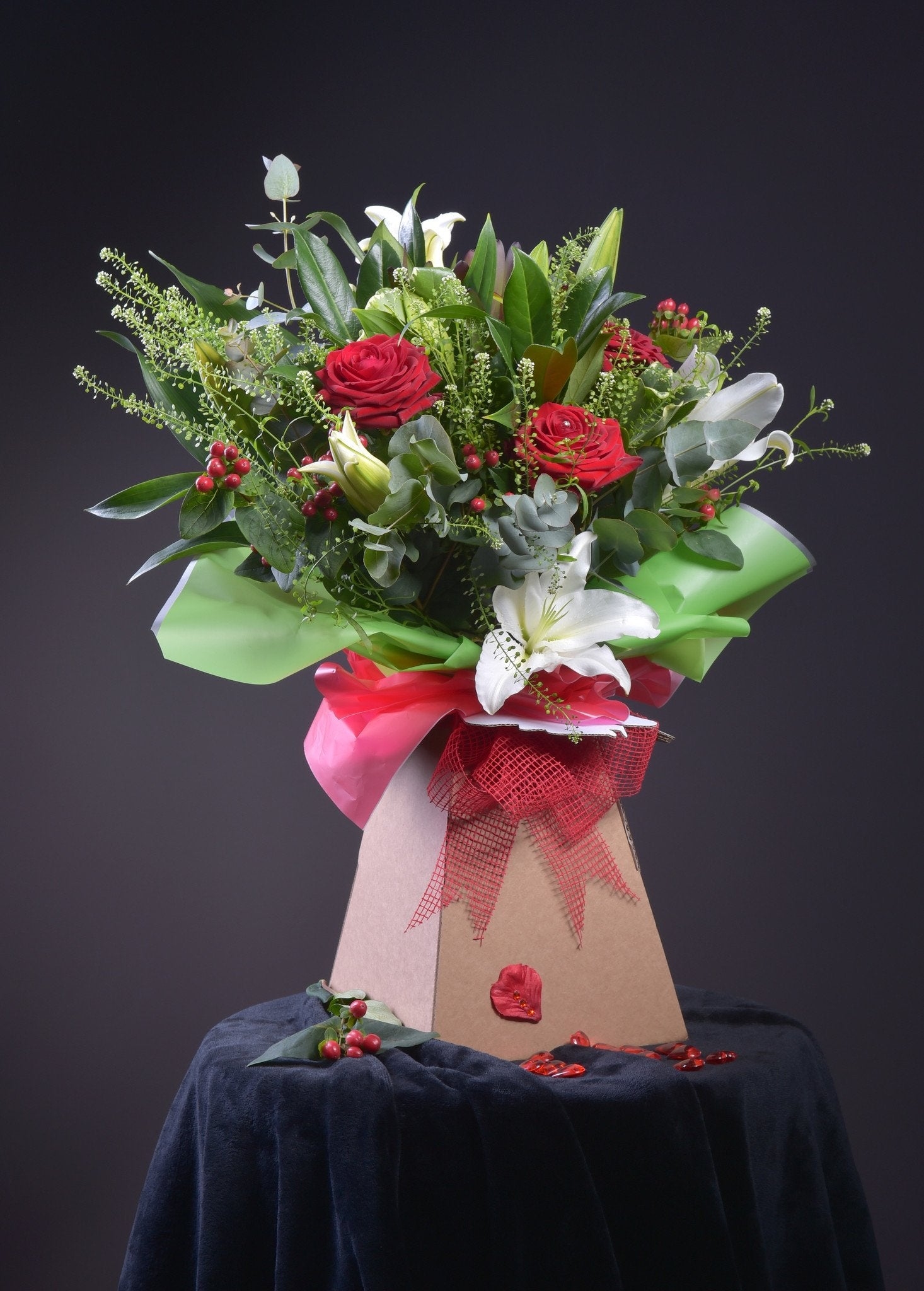 Lily and Rose Valentine Bouquet