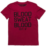 BLOOD SWEAT BLOOD SS TEE CRIMSON RED