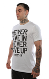 NEVER GIVE IN SS TEE