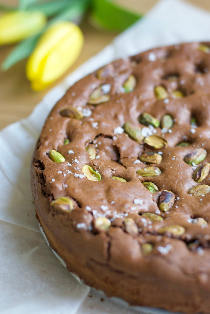 Salted Pistachio & Brown Butter Brownie