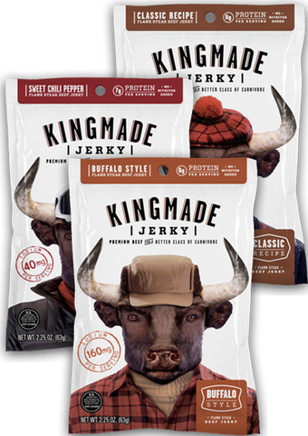 Assorted Flavor - 12 Pack - Kingmade Jerky  - 1